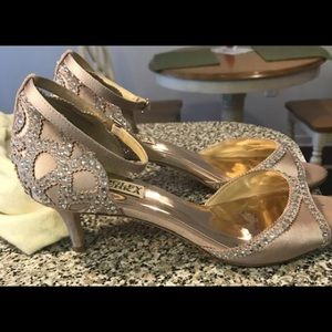 "Badgley Mischka ""Gillian"" d'orsay bridal shoes"